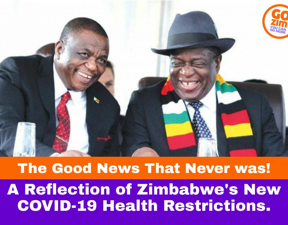 """""""The Good News That Never Was,"""" A reflection of Zimbabwe's new Covid-19 health restrictions."""